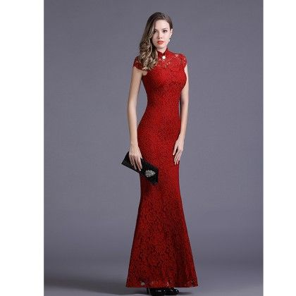Elegance Red Colored Party Dress - STUPA FASHION