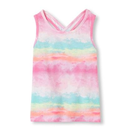 Girls Sleeveless Printed Cross-back Top - The Children's Place