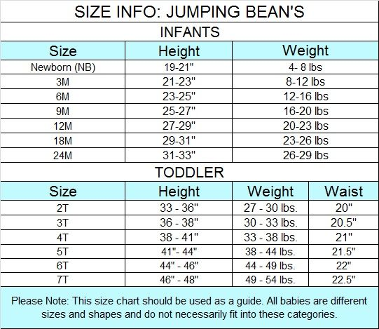 Jumping Beans Size Chart - Jumping jacks kids shoes sizing ...
