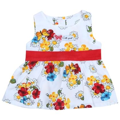 Cute Girl Floral Print Frock - TOFFYHOUSE