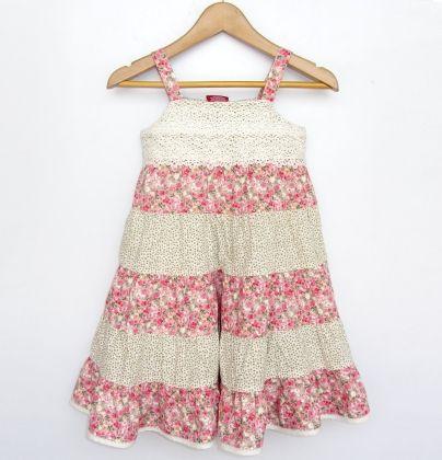 Lace Yoke Dress - Beebay