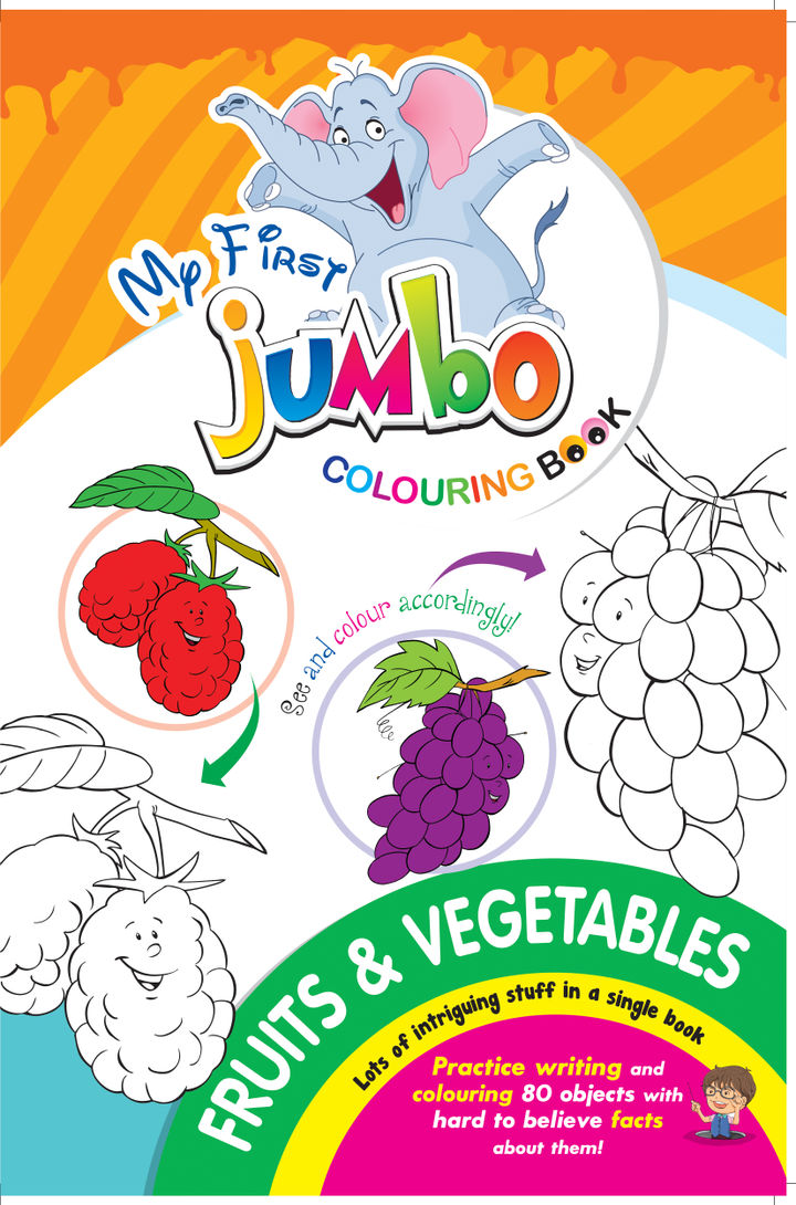 My First Jumbo Colouring Book Fruits Vegetables