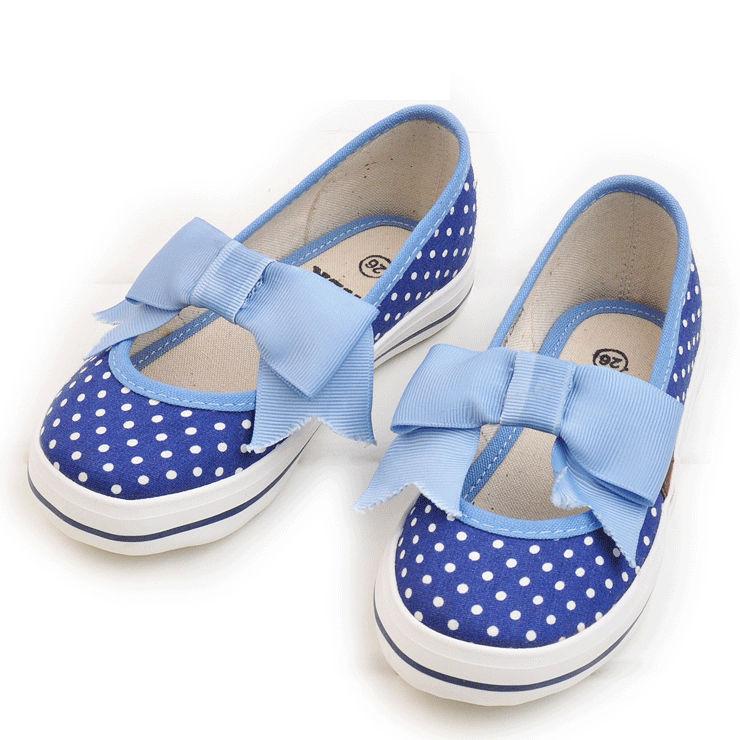 Buy Trendy Kids Shoes Blue Polka Dots