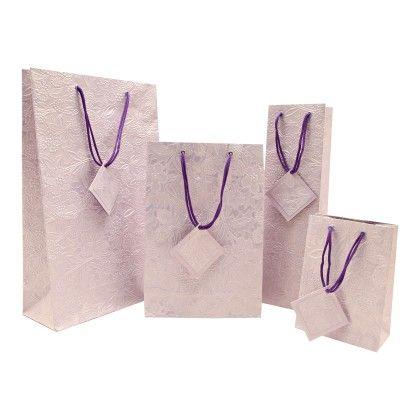 Lt.purple Hand-made Paper Bag - Set Of 4 - Le Papier