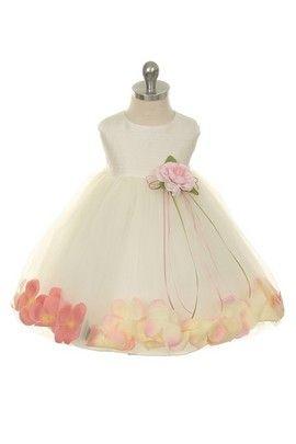 45b30aaefb3 Hopscotch - NeedyBee Apparel - Elegant Dupioni Silk Dress With Pink Flower