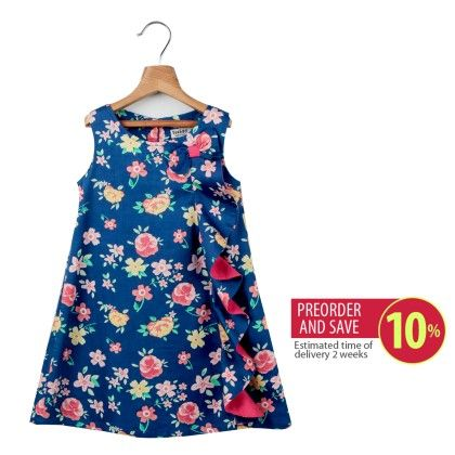Floral Print Frill Dress - Beebay