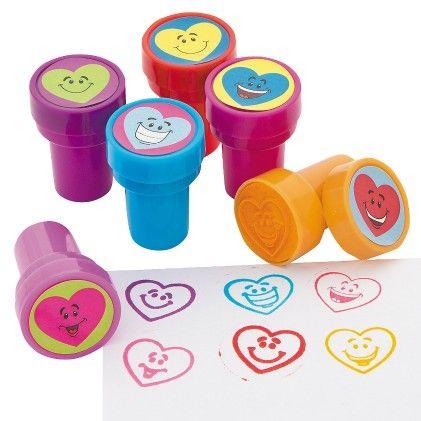 Heart Smile Face Stampers - Set Of 6 - Hullabaloo