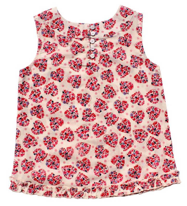 feab6c32d9c84 Hopscotch - Campana - Buoyant Heart Print Frilly Tunic Top