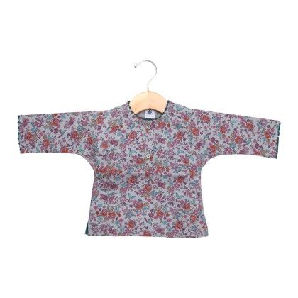 Green Tops With Floral Design - Petit Bateau