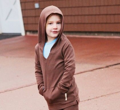 Organic Cotton Hooded Shirt - Brown - L'ovedbaby