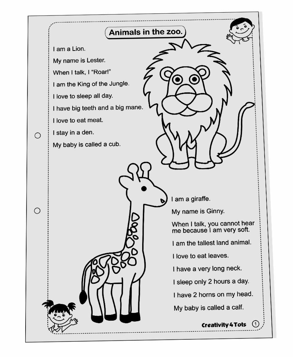 Hopscotch creativity4tots worksheet zoo animals ibookread Download