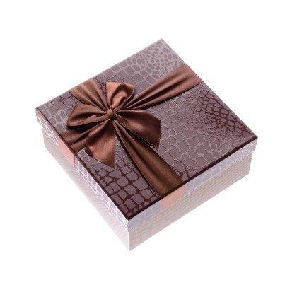 Brown Imported Satin Ribbon Big Boxes - The Gift Box