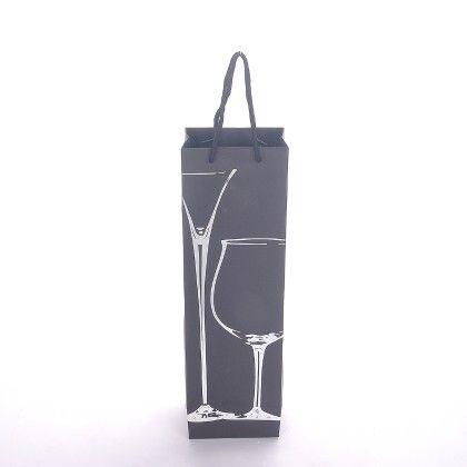 Wine Glass Poil Prints - Black/silver - The Gift Bag
