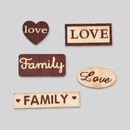Wood Veneer Shapes Words Pack - Set Of 12 - Hullabaloo
