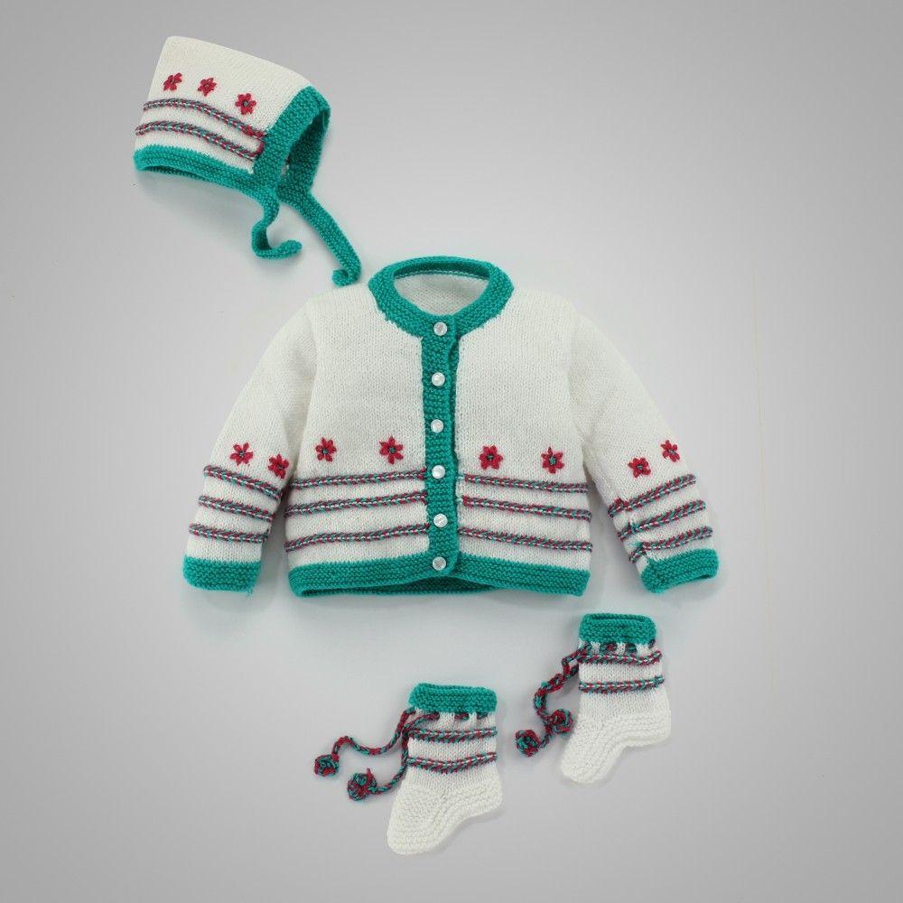 40e5b9e57 Hopscotch - Mayra Knits - Baby Sweater Set