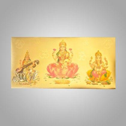 Gold Laxmiji & Ganeshji 3d Pack Of 2 - The Gift Bag