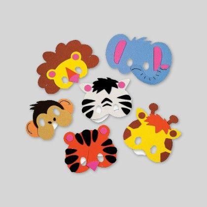 Foam Zoo Animal Mask Craft Kit  - Set Of 6 - Hullabaloo