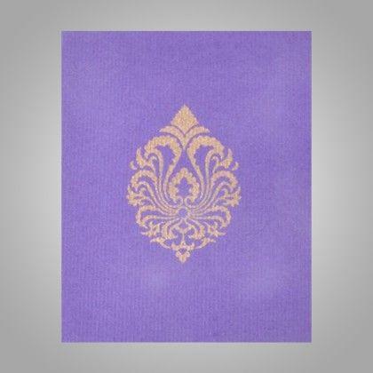 Pocket Envelopes Gold Damask - Purple Pack Of 10 - The Gift Bag