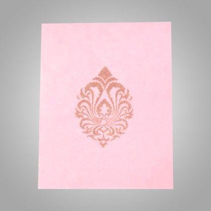 Pocket Envelopes Gold Damask - Pink Pack Of 10 - The Gift Bag