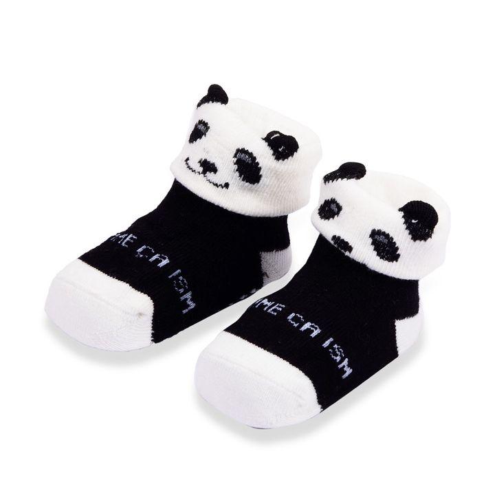 561d387b3906f Hopscotch - Wonder Kids - Wonderkids White and Black Baby Grip Socks