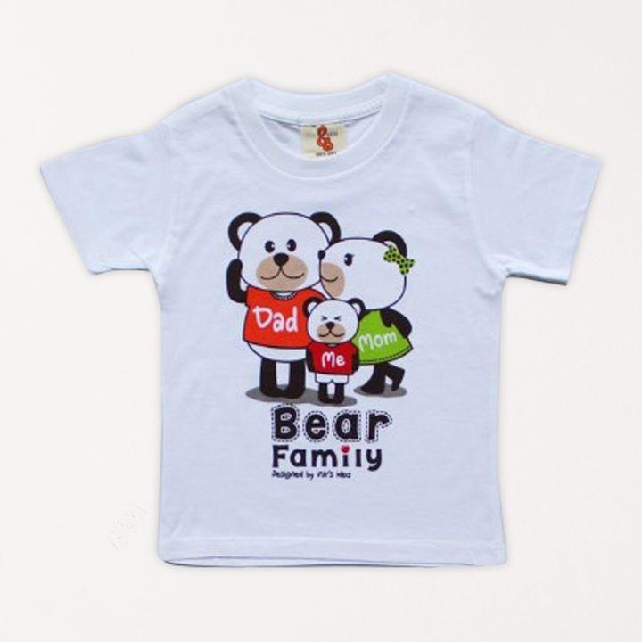 b0be2103 Hopscotch - INK's IDEA - Bear Family Printed T-shirt