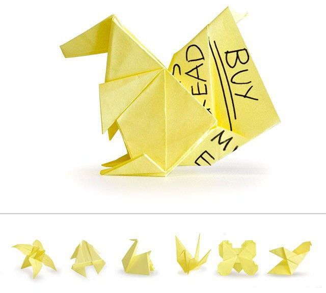 DIY – Origami Photo Holders Made From Post-It Notes | Sticky note origami,  Paper crafts origami, Easy origami star | 576x640