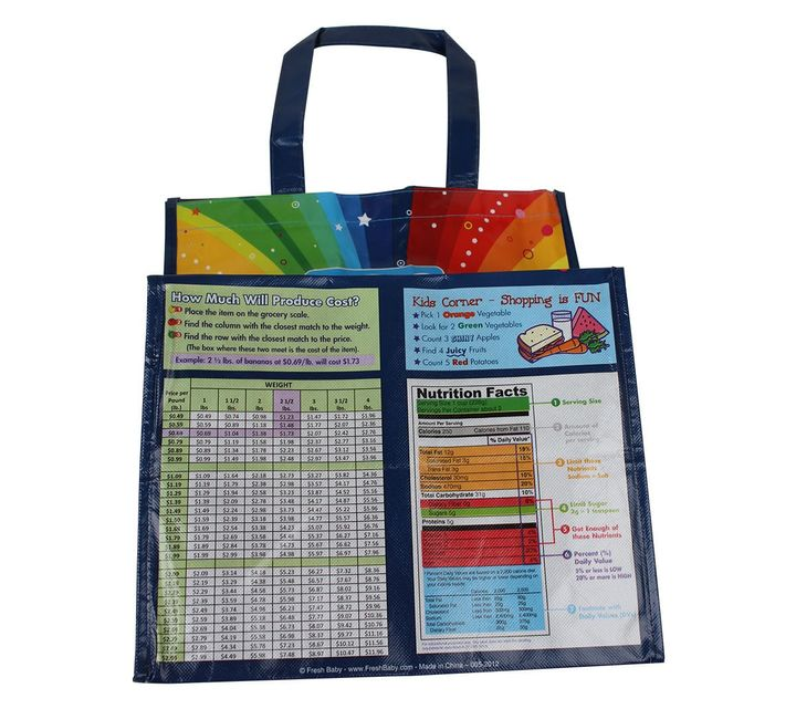 Myplate Re-Usable Grocery Bag Shopping List