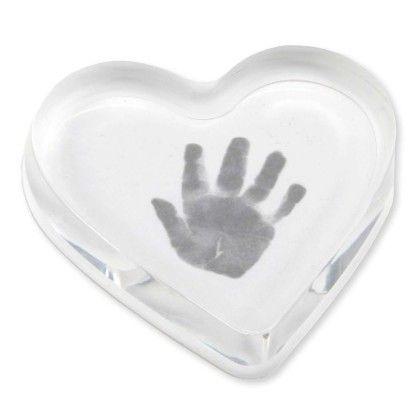 Handprint Paperweight(acrylic)- Heart - CR Gibson