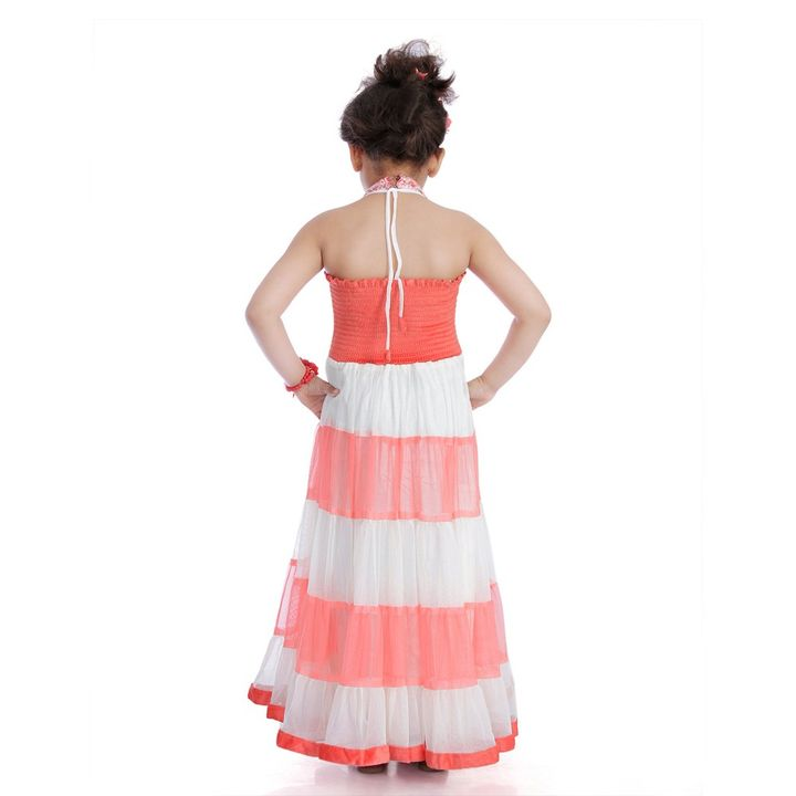 d38dfb51a20 Hopscotch - DotnDitto - Indo Western Halter Neck Gown
