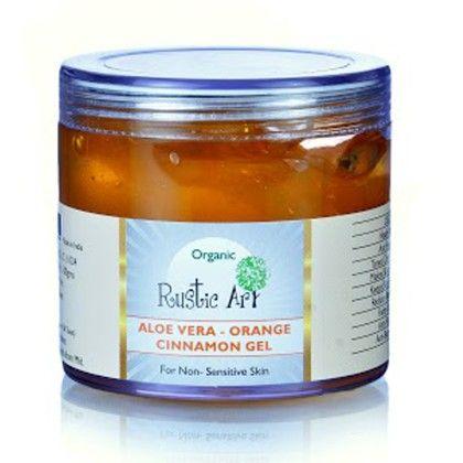 Organic Aloe Vera Gel - Orange & Cinnamon Gel - Rustic Art