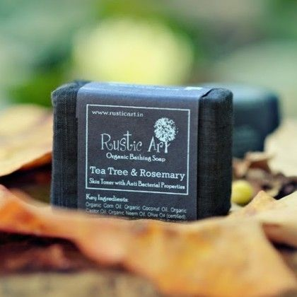 Organic Tea Tree & Rosemary Soap - Rustic Art