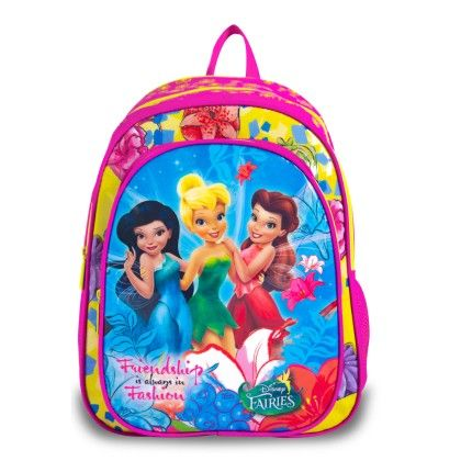 Genius Disney Act Fairies School Bag- Pink