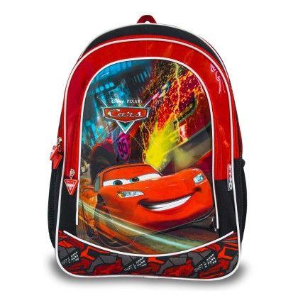 Genius Disney Cars School Bag- Red & Black