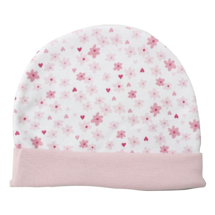 5e807968 Hopscotch - BEN BENNY - Small Pink Flower with light Pink Rib Round Cap