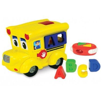 Remote Control Shape Sorter - Letterland School Bus - Learning Journey