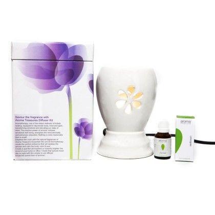 Electric Diffuser -white+lemon Grass Oil - Aroma Treasures