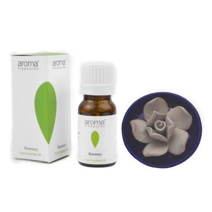 Lotus Diffuser With Rosemary Essential Oil - Aroma Treasures