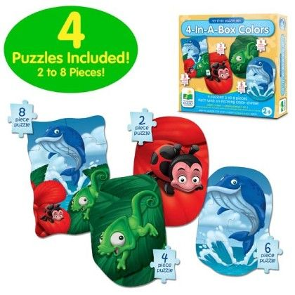 My First Puzzle Sets  4-in-a-box Puzzles - Colors - Learning Journey