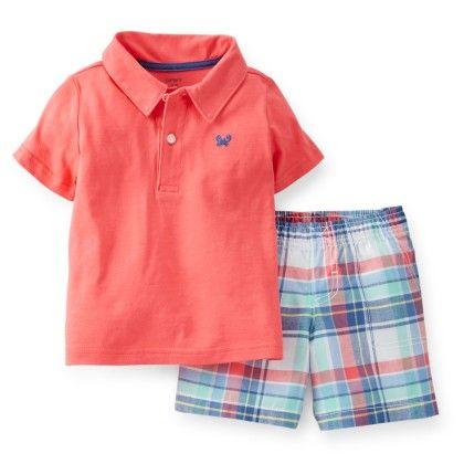 Pink 2-piece Jersey Top & Cotton Shorts Set - Carter's