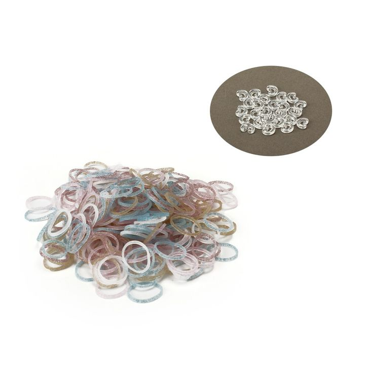 b07e4fc477 Official Rainbow Loom Silicon Glitter Mix Colors-300 Pcs Count Bands