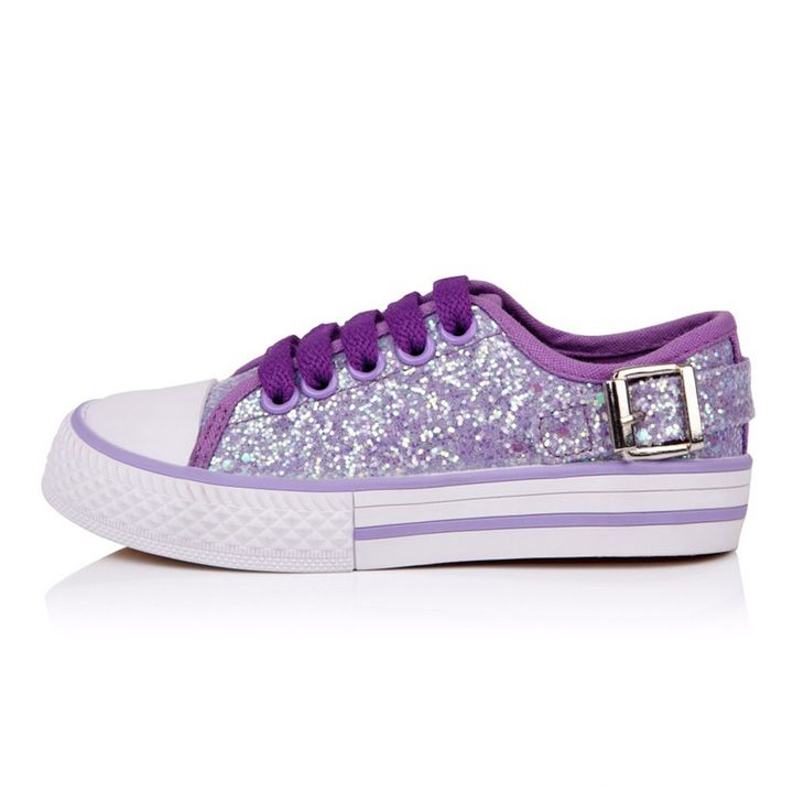 216f3efa3fd4 Buy Peach Girl Smart Lilac Glittery Canvas Shoes online @ ₹1199 | Hopscotch