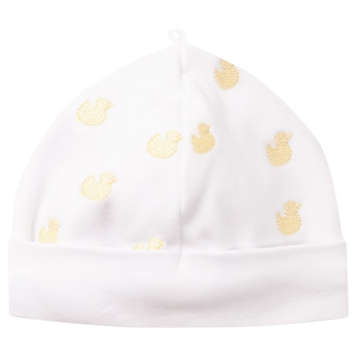 5299080af Embroidered Duck Baby Hat - Yellow