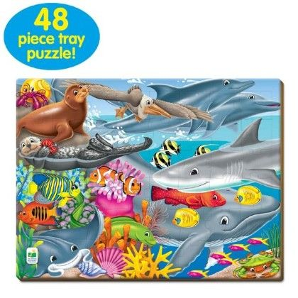 48 Piece Lift & Discover Jigsaw Puzzle - Creatures Of The Sea - Learning Journey
