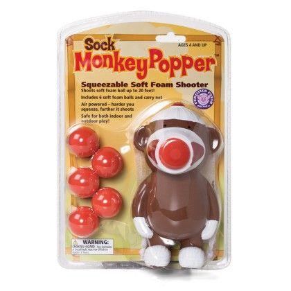Sock Monkey Popper - The Hog Wild Toys