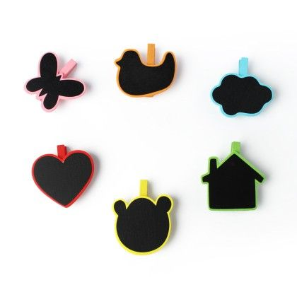 Multi Purpose Multi Coloured Fun Clips - Set Of 6 - Happy Gift