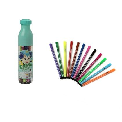 Multi Color Sketch Pen (12 Pcs)- Sea Green - Happy Gift