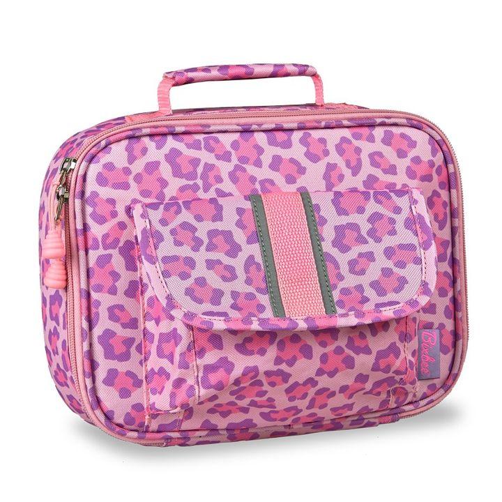 37b6d7de7b38 Pink & Purple Sassy Spot Leopard Insulated Lunch Bag