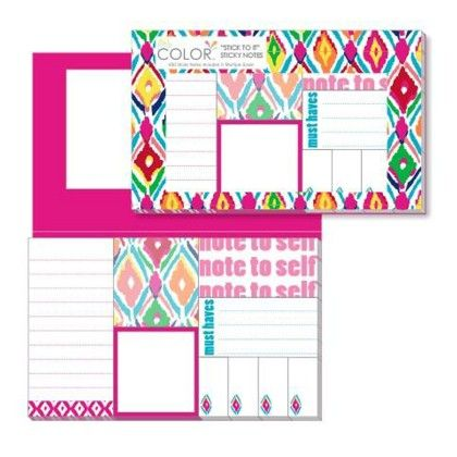 """stick To It"" Sticky Notes - Multi Ikat - ALL FOR COLOR"