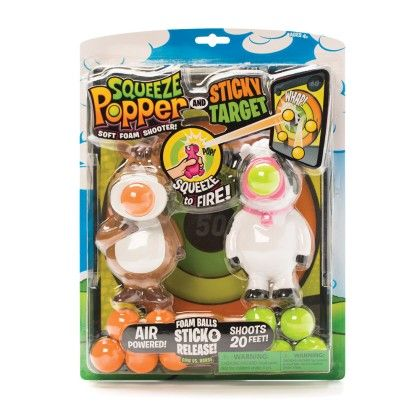 Squeeze Popper/sticky Target - The Hog Wild Toys