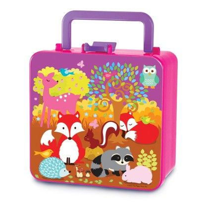 Double Decker Bento Box-fox & Woodland Animals - The Piggy Story